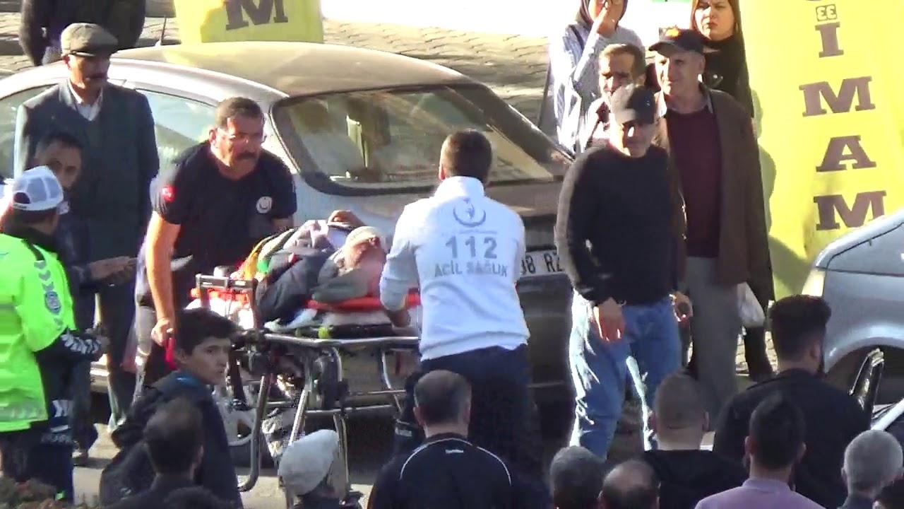 Kamyonetin çarptığı yaşlı adam yaralandı