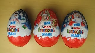 Kinder Surprise Eggs 2015 unboxing - #KinderCollection 3 - Cartoon Games