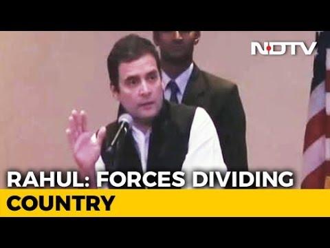 'Divisive Politics Ruining India's Reputation Abroad', Says Rahul Gandhi In US