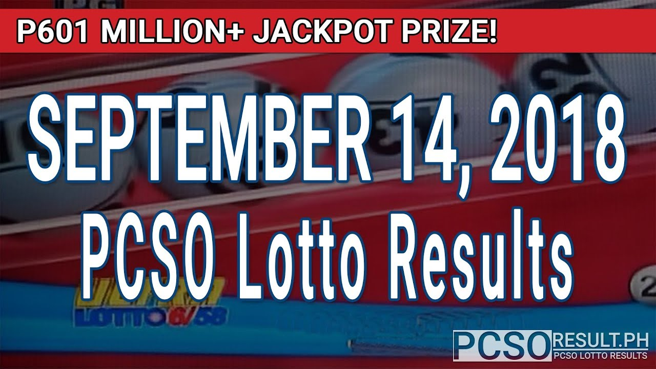 PCSO Lotto Results Today September 14, 2018 (6/58, 6/45, 4D, Swertres, STL  & EZ2)