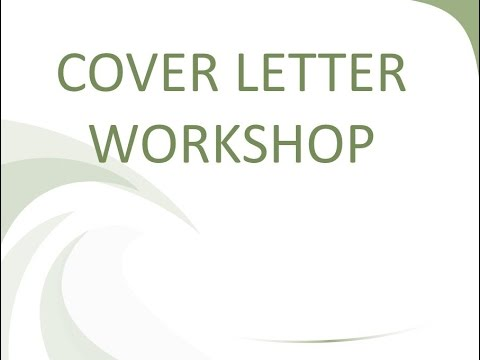 Cover Letter Workshop - YouTube