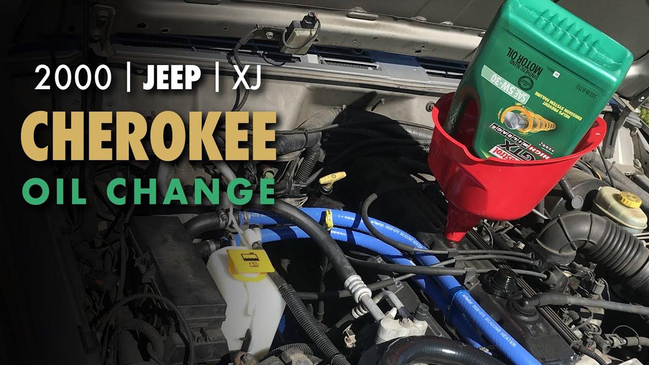 Jeep Cherokee Xj Oil Change 4 0l Bosch Distance Plus Oil