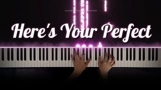Jamie Miller - Here's Your Perfect   Piano Cover with Violins (with Lyrics & PIANO SHEET) видео