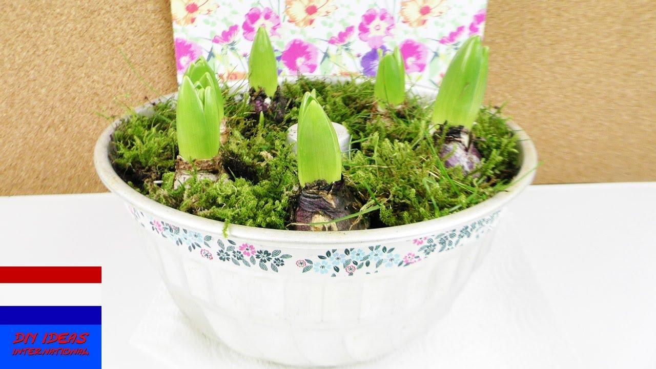 Diy lentedecoratie bloemen in tulbandvorm leuk decoratie idee