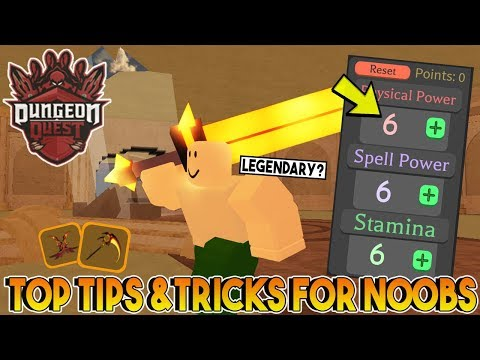 TOP TIPS FOR NOOBS IN DUNGEON QUEST ROBLOX