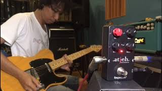 Eross Candra of Sheila on 7 is demoing Atjeh