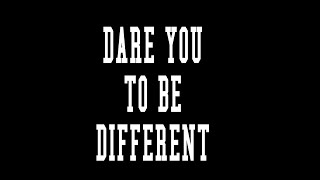 Dare to Be Different . Facebook Twitter, Instagram Sample Ad