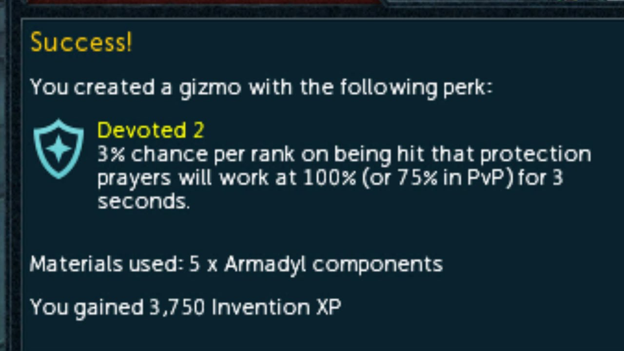 Runescape Invention Perk Combinations Youtube