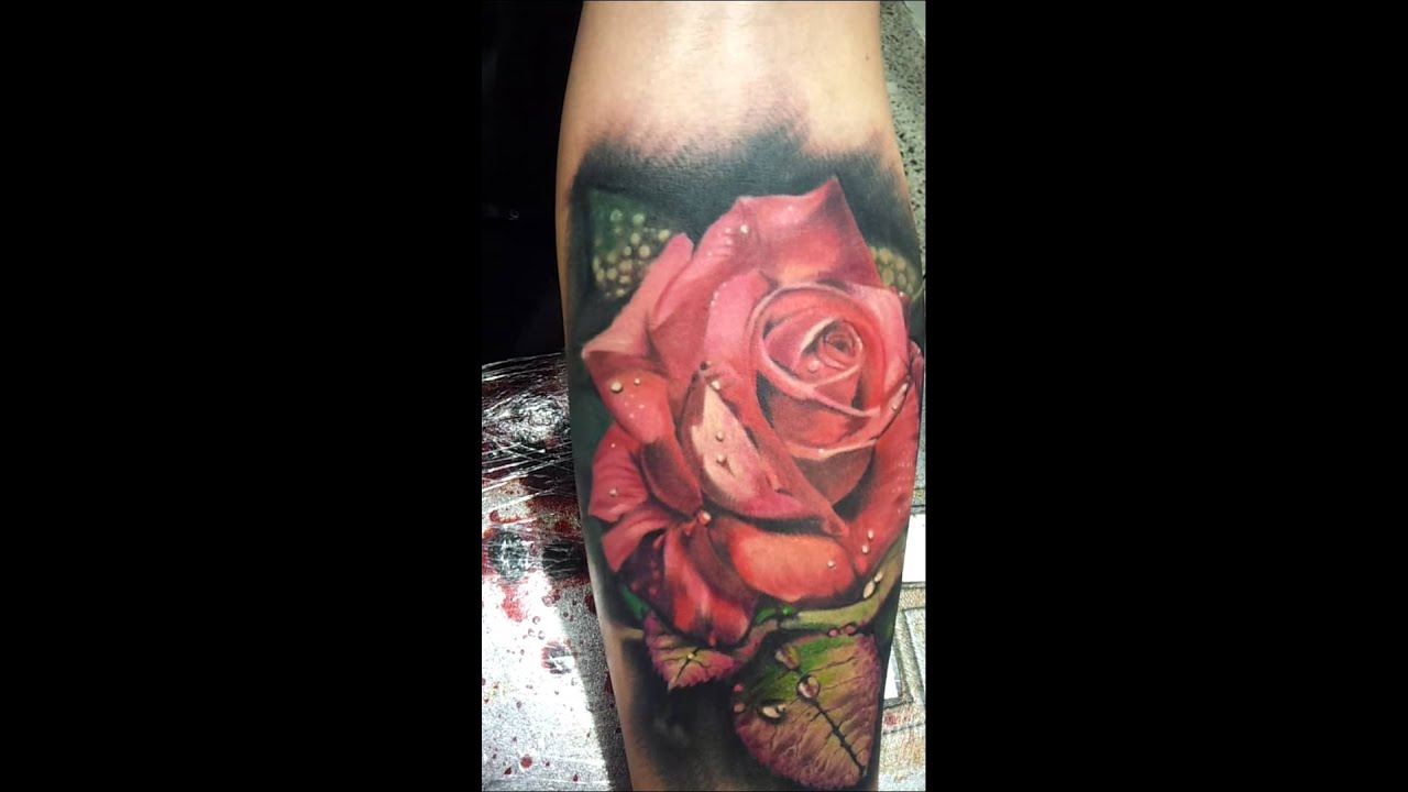 Rose Tattoo By Matt Jordan Youtube