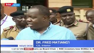 Cabinet Secretary , Ministry of interior Dr. Fred Matiang\'i on KCPE