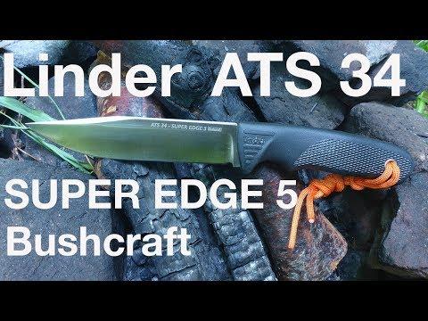 Linder  ATS 34 Super Edge 5 Bushcraft knife