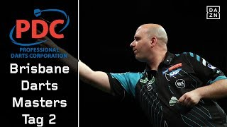 Viertelfinals mit Rob Cross und Michael van Gerwen | Highlights | Brisbane Darts Masters Tag 2 | PDC