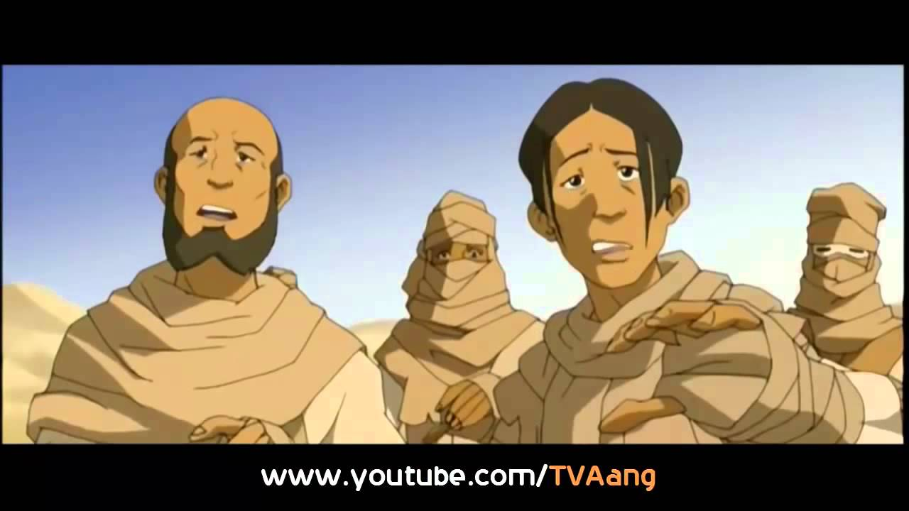 Download Aang in Avatar State   In Si Wong Desert Full Scene HD