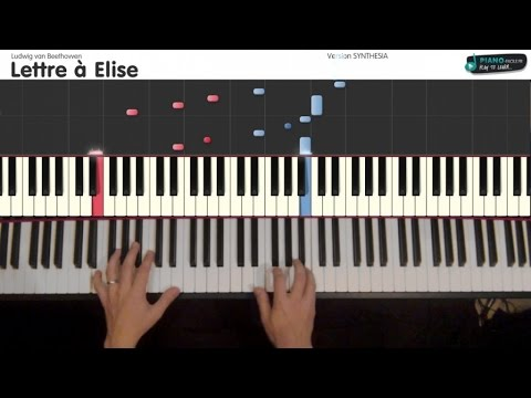 Lettre à Elise Ludwig Van Beethovven Tutorial Piano Synthesia S