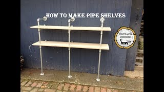 Woodworking : Custom DIY Shelves/ Pipe Shelves // How-To