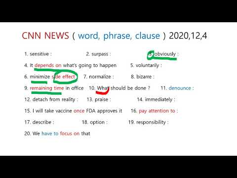 CNN NEWS ( word, phrase, clause ) 020, 12, 4