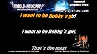 Bobby's Girl - karaoke - lower key
