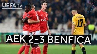 AEK 2-3 BENFICA #UCL HIGHLIGHTS