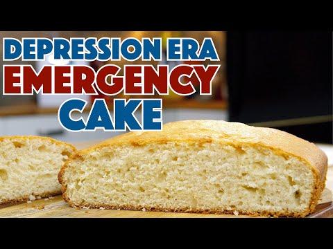 1930's Emergency Cake Depression Era Recipe Keep Calm - Bake On!
