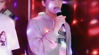 Moon Taeil singing Sofa by Crush; Love Me Again & Excuses by G.Soul at Coin Karaoke
