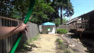 Shooting the Malachite Serpent - 50 55 Pound Furniture Grade PVC Pipe Bow
