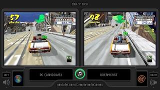 Crazy Taxi (Pc vs Dreamcast) Side by Side Comparison