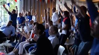 Diffusion du match France-Croatie à l'Ambassade de France à Varsovie (15 juillet 2018)