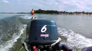 Waterski behind a 6ps rubberboat