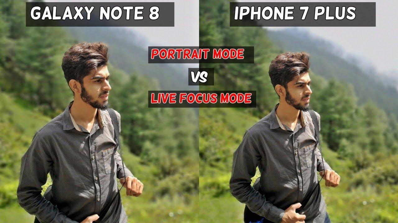 Samsung Galaxy Note 8 Vs Iphone 7 Plus Portrait Mode Comparison