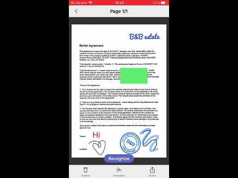 FineScanner for iOS 11:  PDF Tools
