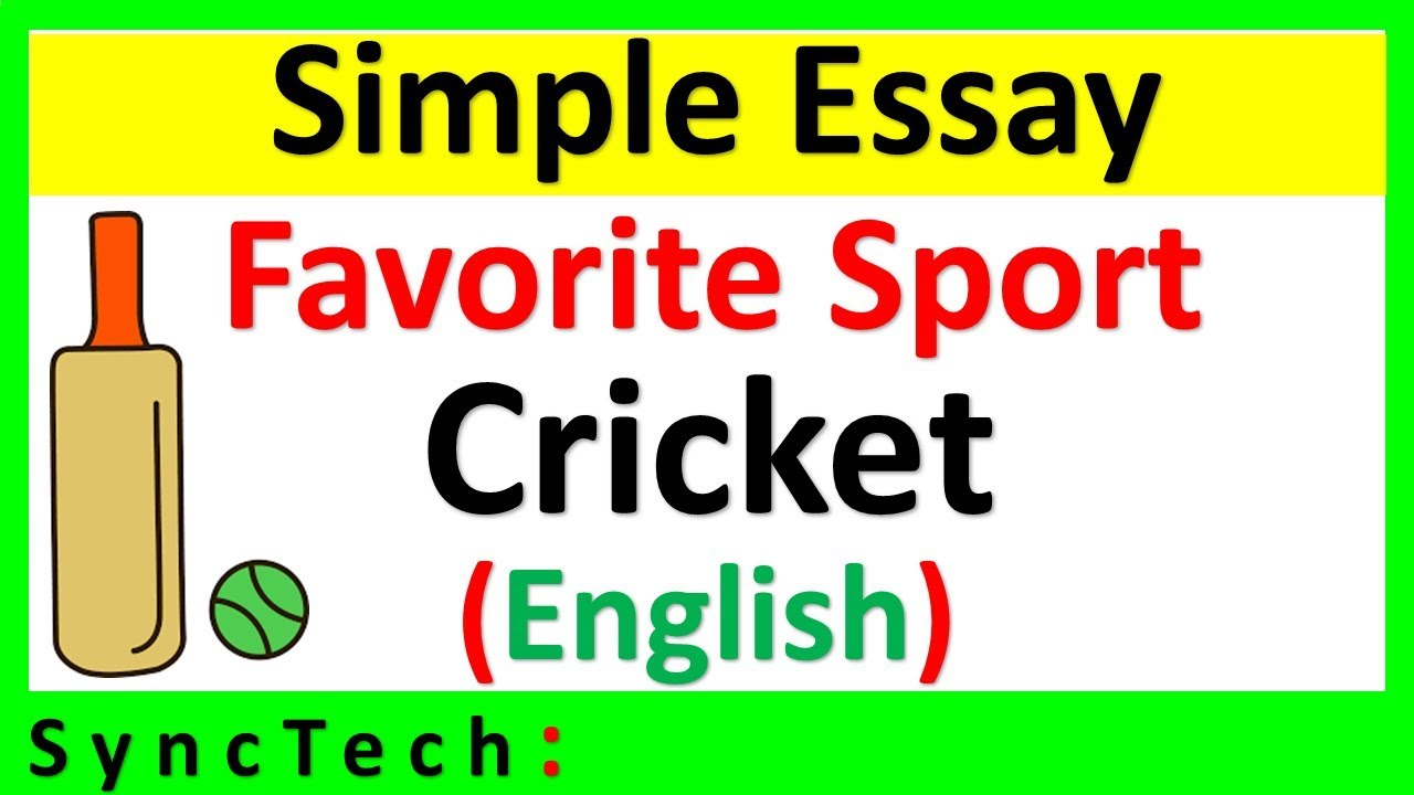 essay on my favourite sports cricket