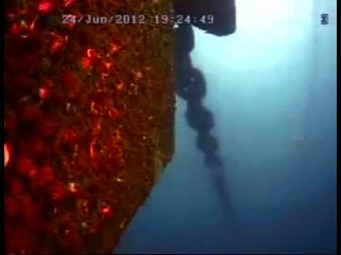 Semi-Submersible Drilling Platform Mooring Chain Underwater