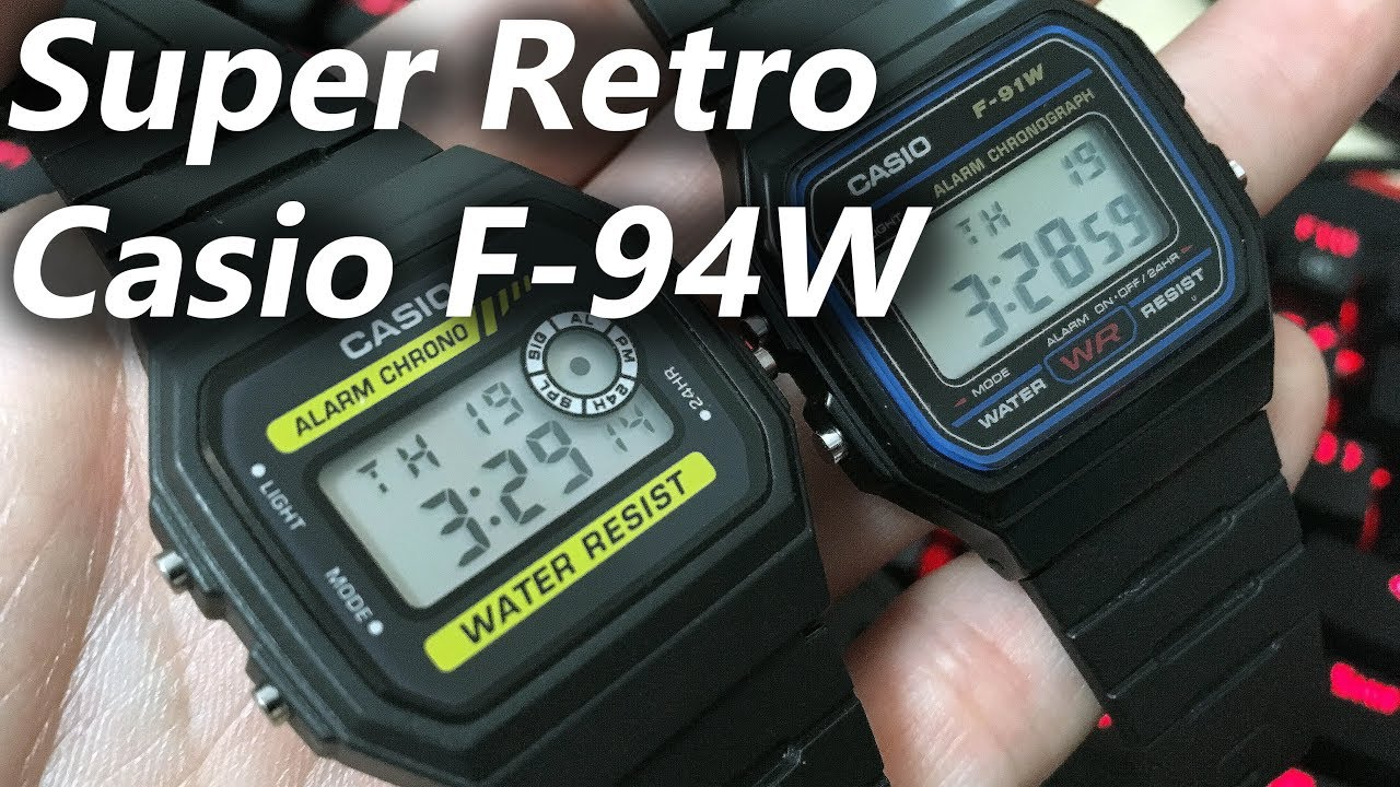 cb4661ed4 Casio F-94W! Even better than the Casio F-91W! [Review/Comparison ...