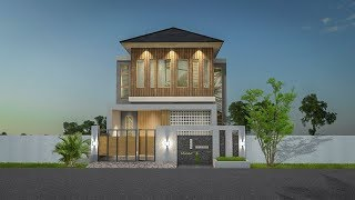 Modern Minimalist 2 Storey Tropical House Design