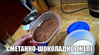 Сметанно-шоколадное желе