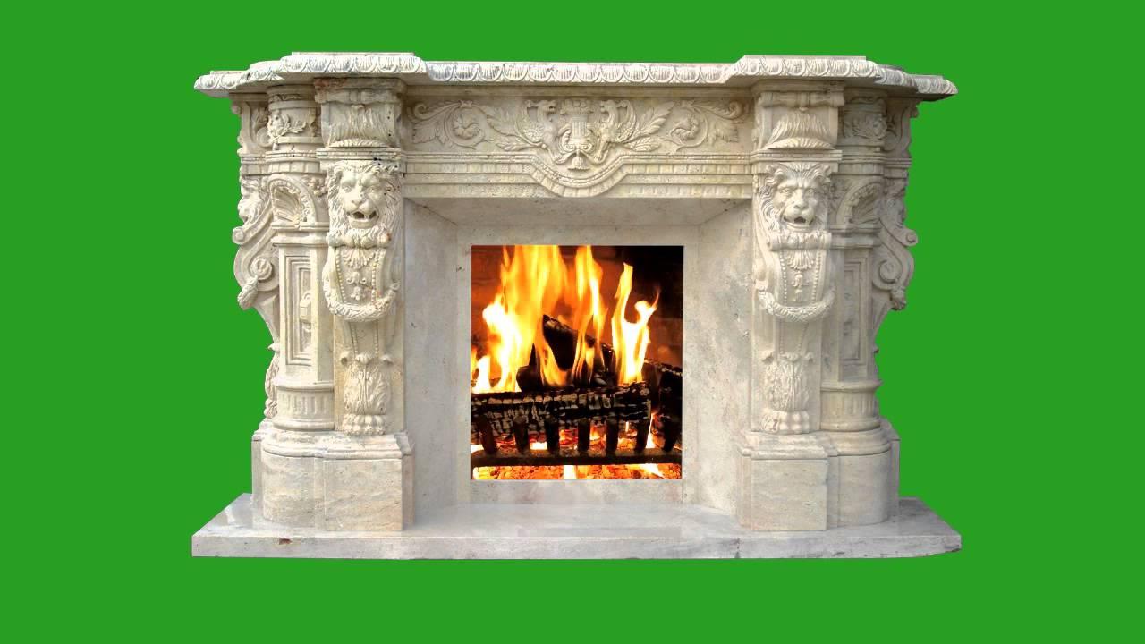 Green Screen Fireplace Chimenea 3 HD - YouTube
