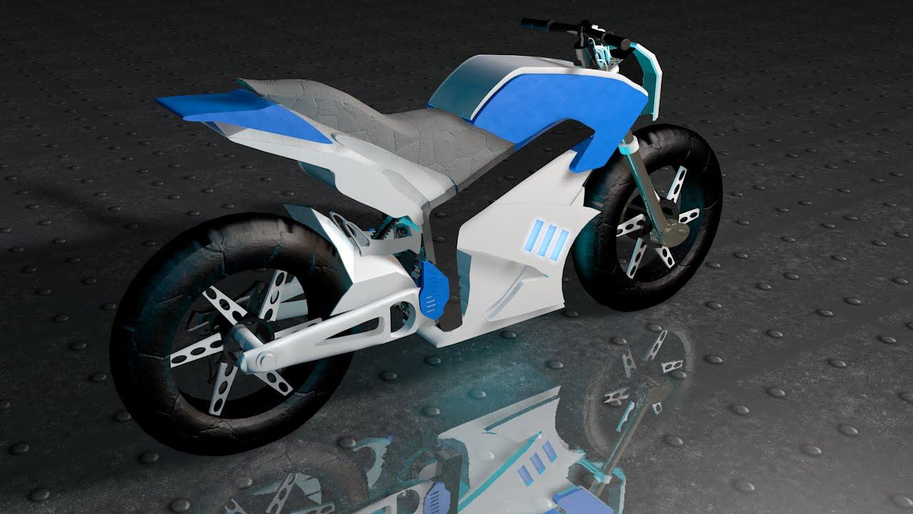 Speed-Art - Motorrad | Cinema4D/3D Modell von PRiNZESSiN - YouTube