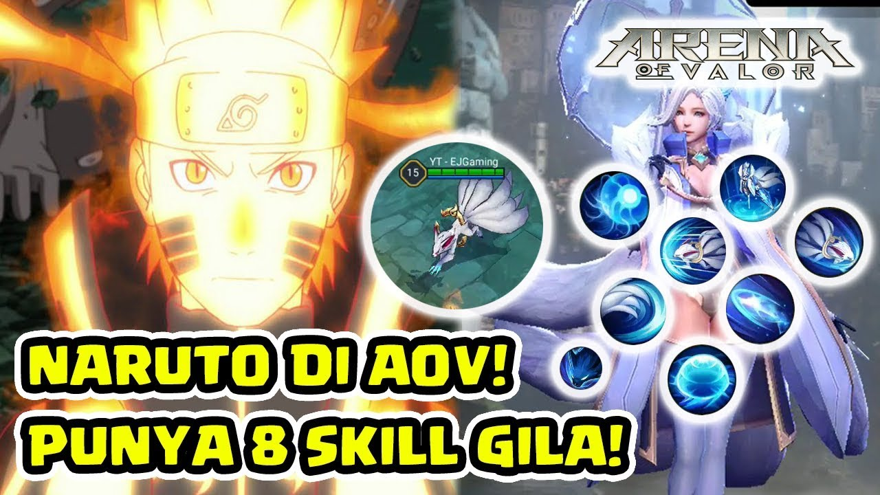 Aov Juga Punya Naruto Liliana Hero  Skill The Nine Tails Arena Of Valor Clipzui Com