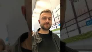 Виктор Литвинов в сторис 23.10.2019. Долетел.