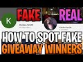 Look Out For Fake Giveaway Winner Account Scammers