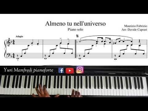 Almeno Tu Nell'universo (piano Transcription)