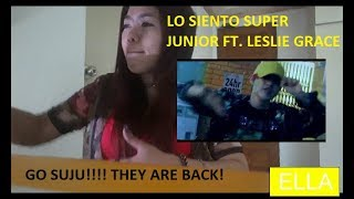 Download Lagu SUPER JUNIOR LO SIENTO FT. LESLIE GRACE MV REACTION BY ELLA Mp3