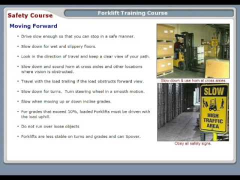 Forklift Operating Environment - Safety Training Video Course - SafetyInfo.com