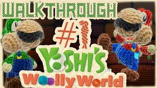 ABM: Yoshi Woolly World Gameplay !! *walkthrough 1* HD