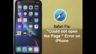 Safari Could Not Open the Page Error on iPhone? Here's the Fix