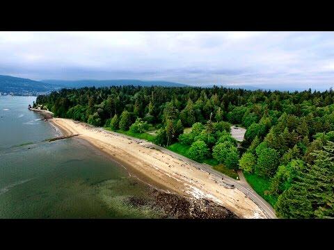 Third Beach, Stanley Park - Vancouver, BC - Canada | Drone DJI Phantom 3 [4K]