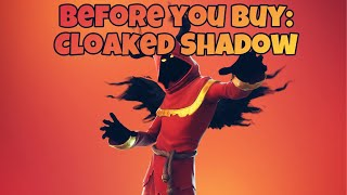 Cloaked Shadow Fortnite Skin and BackBling on other Skins! Before you buy
