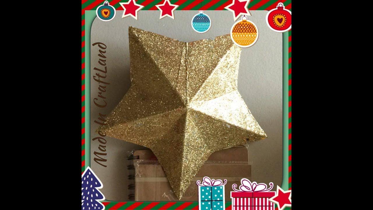 estrella para rbol de navidad con carton youtube