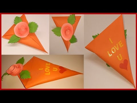 DIY paper cone gift box for valentine's day - gift wrapping ideas - valentines day - gift pack ideas