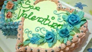 Torta di San Valentino decorata con panna by ItalianCakes